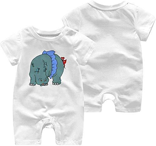 sanlianwangluokeji Newborn Infant Baby Girls Boys Romper Jumpsuit Hippo Clipart Cotton Short Sleeve Jumpsuit