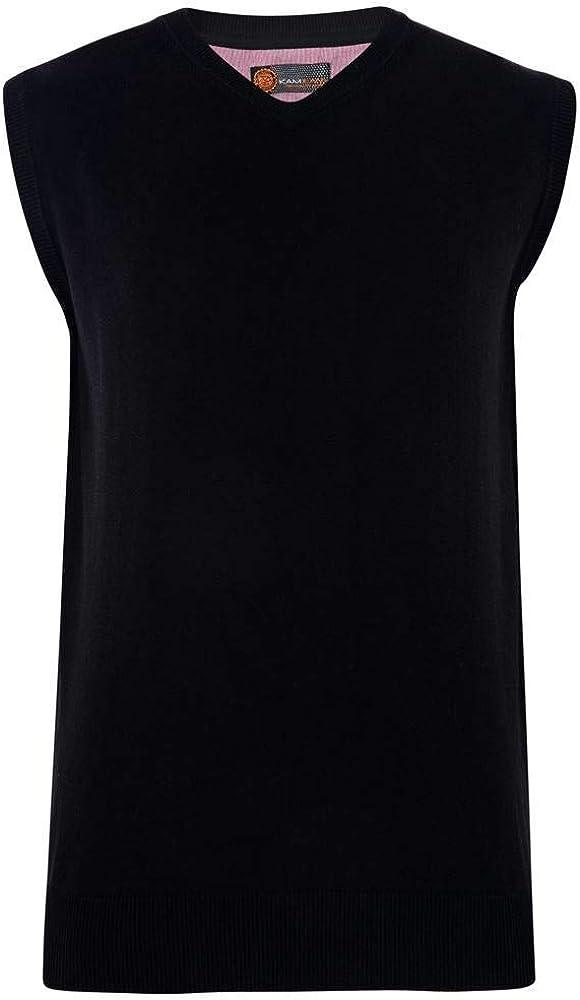 Kam Men's Premium Cotton V Neck Sleeveless Knit Jumpers (56)