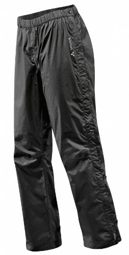 VAUDE Herren Fluid Full Zip Pants - Ii Hose, Black, L-Short EU