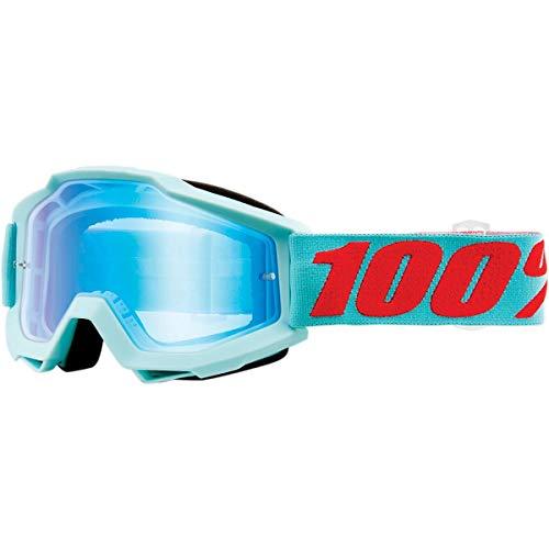 Desconocido 100{69aec8ec3bbf3bf15fd63b402fcb7aa1ff9cfcc8952a826b75b2dabbacf06836} Accuri Mirror Blue Flash Lens Motocross/Gafas de Ciclismo, Maldivas, Talla única