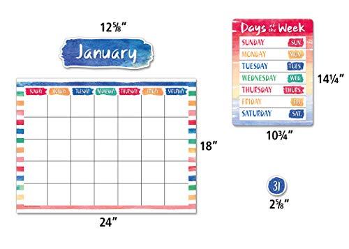 Teacher Created Resources Watercolor Calendar Bulletin Board - 8971 Photo #3