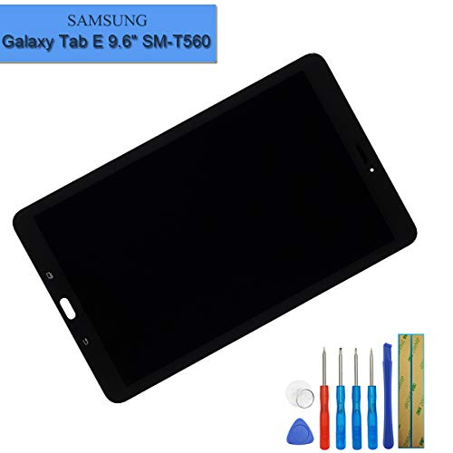 E-yiiviil nieuw LCD-scherm compatibel met Samsung Galaxy Tab E 9.6 SM-T560 T561 T567 display touchscreen beeldscherm digitizer Assembly zwart glas + tools