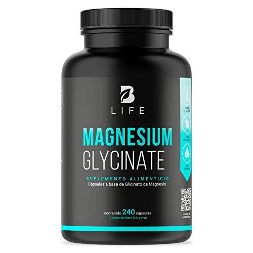 B Life Glicinato de Magnesio - 240 Cápsulas, 408mg