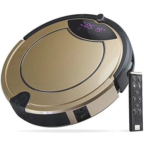 gridinlux. Robot Aspirador Golden Edition, Ligero y manejable, Diseño Elegante, Programable, Barrera Virtual, Base de Carga, 4 Modos de Limpieza