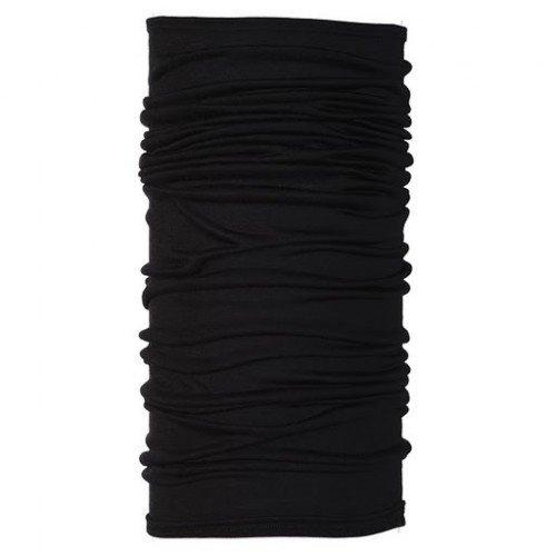 BUFF Lightweight Merino Wool Multifunctional Headwear, Black, One Size
