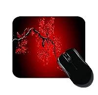 赤と黒の花のマウスパッド11.8 X 9.8で