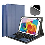 "Tastiera Bluetooth Touchpad QWERTY Italiano, Custodia Cover PU Pelle per Windows Android Tablet 9.7"", 10.1"", 10.5"" Tablet Fire, Galaxy Tab, Huawei Mediapad, Lenovo Tab, AZUS Zenpad"