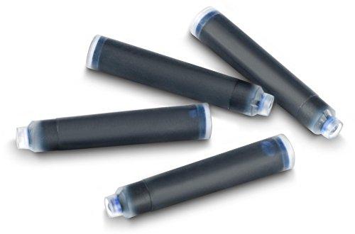JPC Créations - Lotto di 30 cartucce di inchiostro per penna stilografica, modello standard, cancellabile, colore: Blu