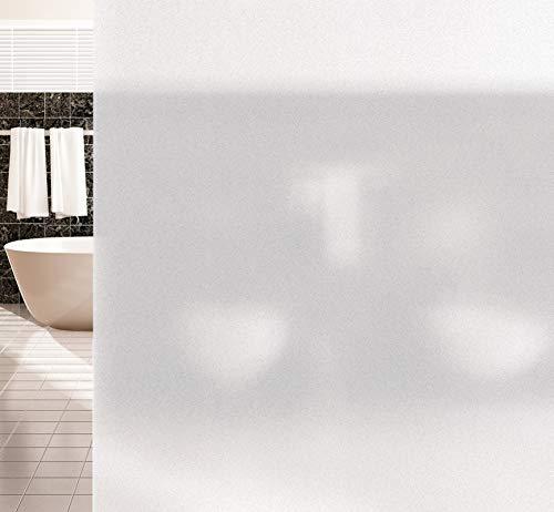 Agoer Statische Milchglas Fensterfolie Privatsphäre Fensterfolien Statisch Selbsthaftend Büro und Zuhause Anti-UV Upgrade,Matt Behandlung für Ihre Privatsphäre, No-Toxic Design,Mattiert 43x300cm