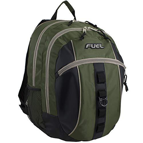 Fuel Sport Active Zaino, multifunzionale: della scuola, gite all'aperto, escursioni, trekking, campeggio, alpinismo, crociera, turismo, campeggio, viaggio, moto, ciclismo - Stampa nera