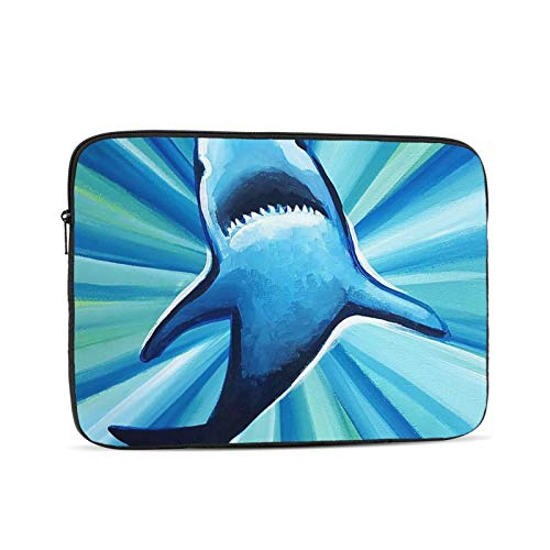 Great White Shark Swimming Pattern Neoprene Sleeve Pouch Case Bag for 11.6 Inch Laptop Computer Designed to Fit Any Laptop//Notebook//ultrabook//MacBook with Display Size 11.6 Inches