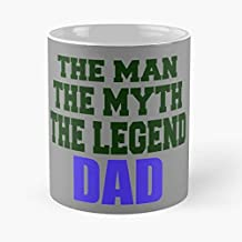 The Man Myth Legend Dad Origin Wiki -funny Gifts For Men And Women Gift Coffee Mug Tea Cup White-11 Oz.