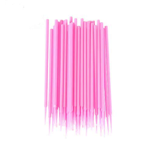 jumpeasy Hot Koop Wegwerp Cleaner Micro borstel Applicators Schoonheid Make-up Kits Mascara Borstel Mini Swab Lijm Remover Tool 200pcs roze