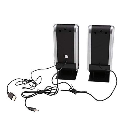 Timetided Altavoces estéreo Multimedia para computadora HY-218 Altavoces de música portátil con Caja de Sonido estéreo USB portátil PC