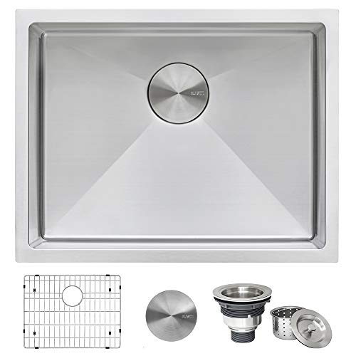 Ruvati 23-inch Undermount 16 Gauge Tight Radius Stainless Steel...