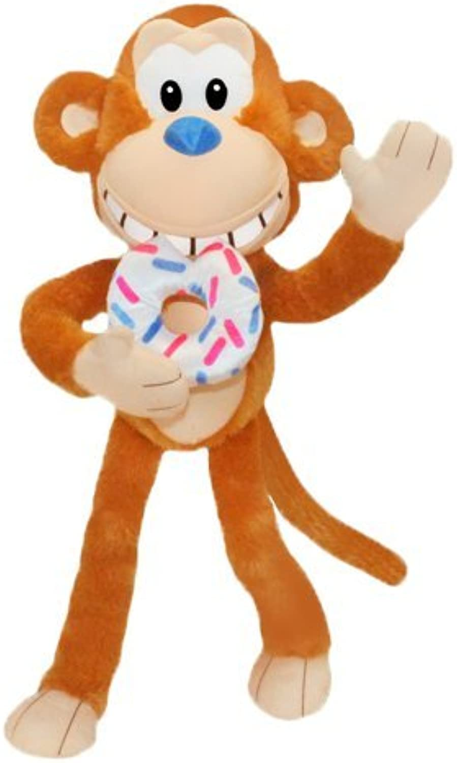 ToySource 7500 SW Crumbs Donut Monkey 44  Plush Collectible Toy, White