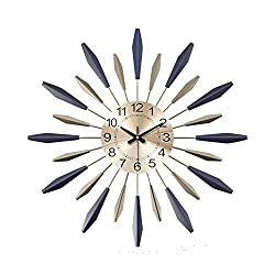 Wall Clock Decor Silent 3D Metal Star Burst Wall Clock, Silent Non Ticking Modern Quartz Decor Wall Clock, Large Living Room Bedroom,Sofa Background,Office Space Painting Wall Watches,76cm/30''