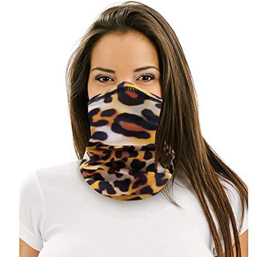 FRAUIT multifunctionele sjaal voor dames en heren, naadloze biker, bandana luipaard, geometrische opdruk, halsdoek, sporthalsdoek, slang, sjaal, hoofdband, halsdoek
