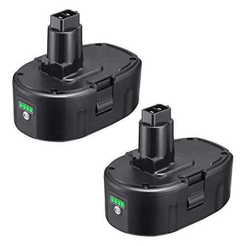 Dutyone 2 Pack Upgraded 5.0Ah 18V Replacement Battery for Dewalt 18 Volt XRP DC9096 DC9098 DC9099 DE9039 DE9095 DE9096 DE9098 DW9095 DW9096 DW9098 DE9503 DC9182 Lithium Batteries