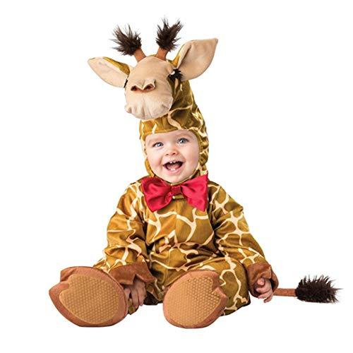 ALLAIBB Baby Kleinkind Tier Outfit Geburtstag Cosplay 3D Strampler Kostüm 6-30M Size 90 (Giraffe)
