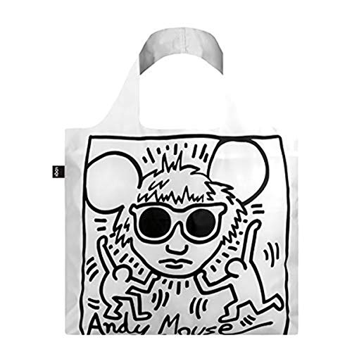LOQI LOQI Keith Haring Andy Mouse Bag Reise-Henkeltasche, 50 cm, Andy Mouse