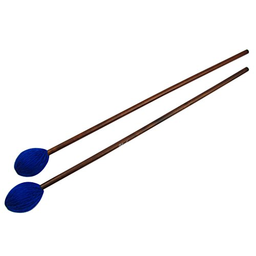 IKN Dark Blue Tiny Soft Head Marimba/Vibe Mallets con eje de arce (1 par)