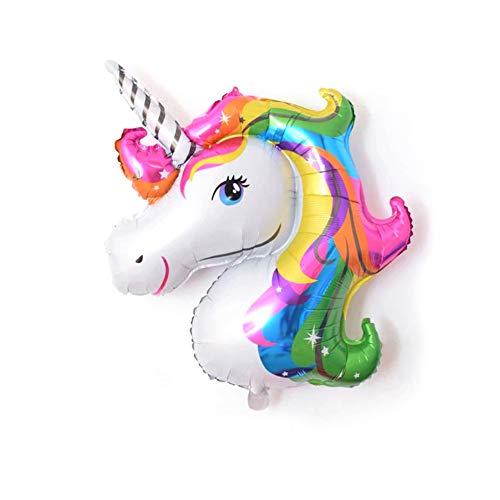AIUIN Unicornio Globos Grandes Decoraciones de Fiesta de Cumpleaños Súper Unicornio Grande Modelo Globo de Papel de Aluminio (Colorear)