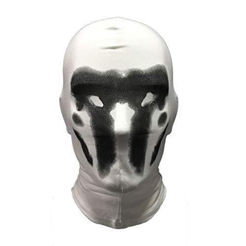 NUOBUGYB Cosplay Scary Rorschach Inkblot Maske Tintenempfindliches Halloween-Gesicht Kostüm
