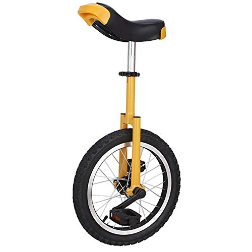 Einrad 20-Zoll-Rad Kinder/Anfänger Einrad, 10/12/14/15 Jahre Alt Männlich Teenager/Jungen Balance Cycling, Mit Alufelge & Ständer, für Spaß Fitness (Color : Yellow)