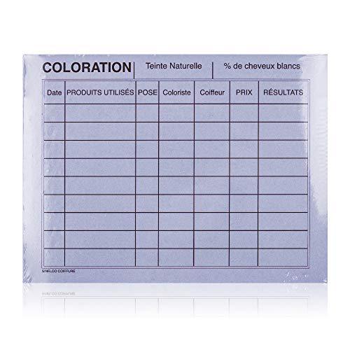 Sibel - Fiches Color. & Perm. Mauves / 50 16 X 12 Cm