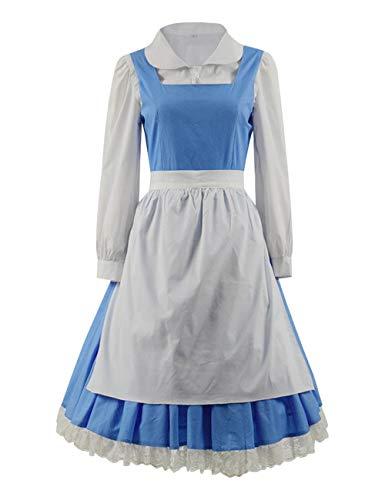 Zhangjianwangluokeji Damen Kleid Blauen Cosplay Erwachsene Halloween Faschingskostüm (M, Blau)