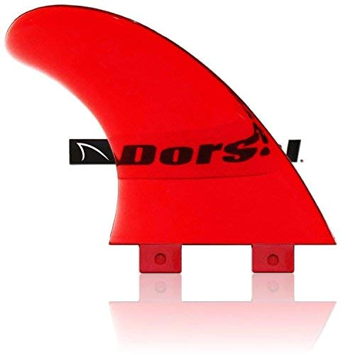 DORSAL® Performance Flexrez Core Surfboard Twin Surf Fins (2) FCS Compatible Red