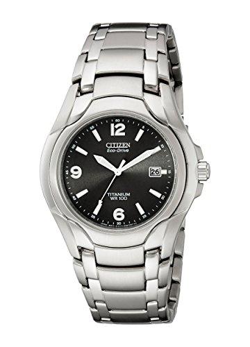 Citizen Men's Eco-Drive Titanium Watch with Date, BM6060-57F