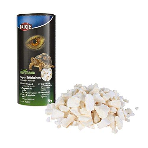 Trixie 76386 Sepia-Stückchen, Calcium für Reptilien, 250 ml/70 g