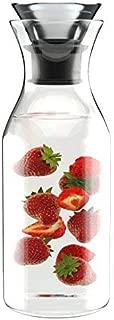 1L Antigoteo Decantador de Agua de Borosilicato con Tapa de Cristal - Jarra para bebidas frías y calientes - Zumo de jarra de té helado - Verter Botella