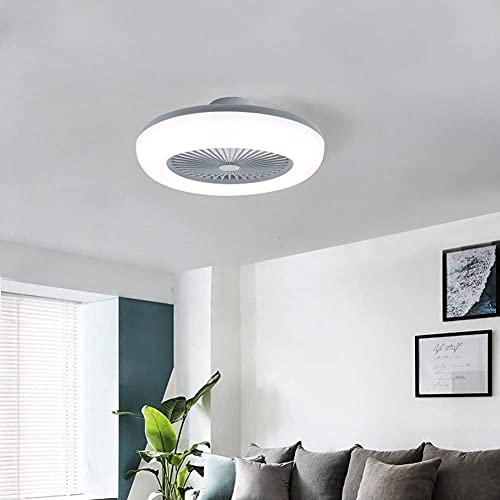 UimimiU Ventilador de techo con luces y remoto, regulable. DIRIGIÓ Luminaria del techo del ventilador con la velocidad del viento ajustable y el modo de memoria luces decorativas para sala de estar, d