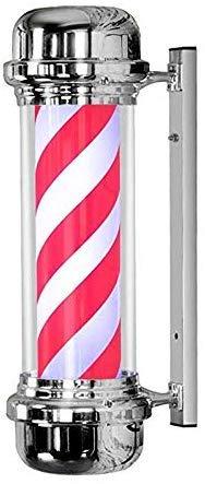 FJY LED Pole Illuminating Barbiers Rotating Salon de Coiffure Signe Rouge Blanc Big Très léger imperméable Lampe Murale économie d'énergie, 71cm / 28in,57cm / 22in