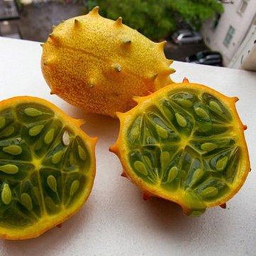 Generic Generische Kiwano Melone Samen Afrikanische Gurkensamen Garten Gewächshaus Gemüse Obst Pflanzen-20 Teile/paket