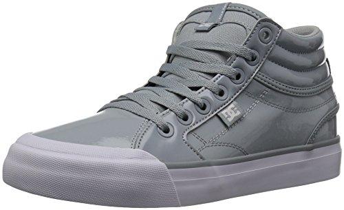 DC Women's Evan HI SE Skate Shoe, Grey/White, 5.5 B B US