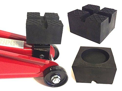 85x85x50mm mit 2 V-Nuten/Waffel/Aussparung Gummiauflage Gummi-Unterlage Auflage Wagen-Heber Hebebühne eckig Auto Klotz Rangier-Wagenheber Puffer Reifen Reifenwechsel LKW Räder KFZ Tuning Zubehör