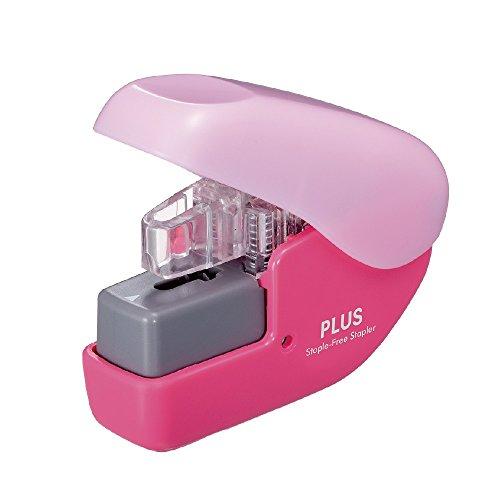 None plus needle stapler paper clinch mini Pink 31113