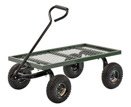Sandusky – FW3820 Lee FW Steel Crate Wagon, Green, 1000 lbs Load Capacity, 14-1/4″ Height, 38″ Length x 20″ Width
