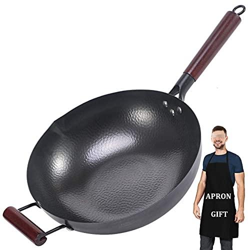Pot Hogar Sin recubrimiento Puro Mano Hecho A Mano Wok Estufa de Gas Special Cocinar Pot