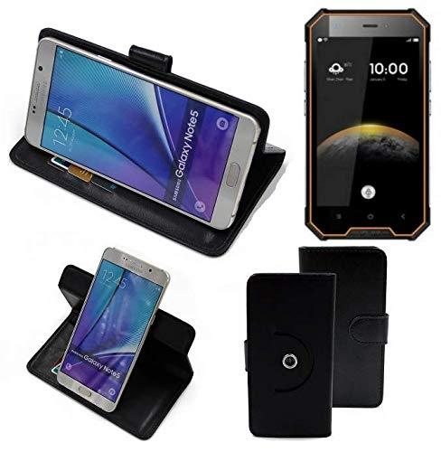 K-S-Trade® Case Schutz Hülle Für -Blackview BV4000 Pro- Handyhülle Flipcase Smartphone Cover Handy Schutz Tasche Bookstyle Walletcase Schwarz (1x)