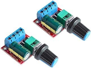 SongHe DC Motor PWM Speed Controller 3V 6V 12V 24V 35V Speed Control Switch Mini LED Dimmer 5A 90W(Pack of 2pcs)