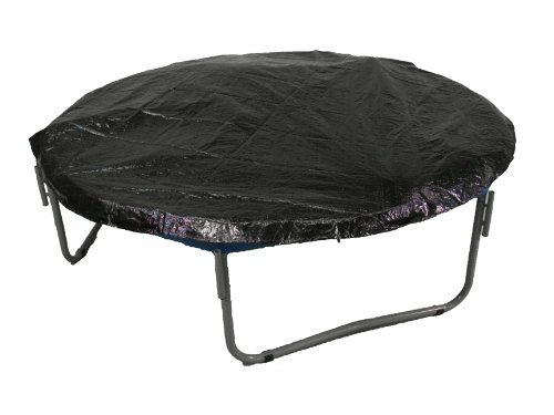 Upper Bounce 12ft Round Trampoline Weather Cover - Weather-Resistant Trampoline Protective Cover - Trampoline Rain Cover - Weather Protection Cover for Trampolines - Black