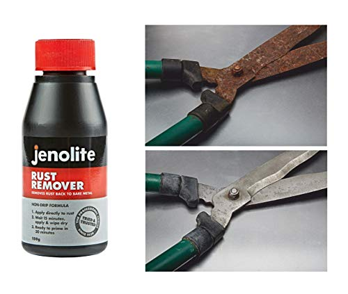 JENOLITE Rust Remover - Thick Liquid - Remover Rust Back to Bare Metal - 5oz (150ml)