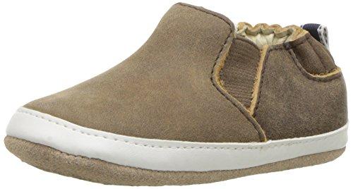 Robeez Boys' Sneaker-Mini Shoez Crib Shoe, Lenny Loafer - Brown, 12-18 Months M US Infant