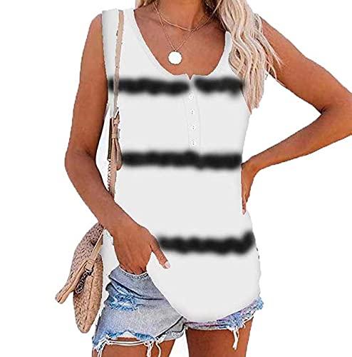 WAEKQIANG Camiseta De Chaleco Informal Suelta con Estampado De TeñIdo Anudado Mujer