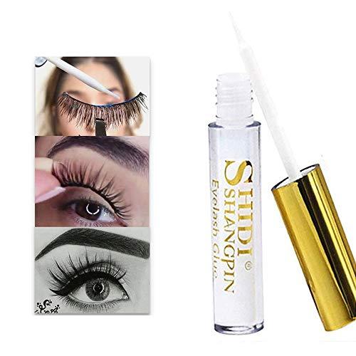 5ml Eyelash glue,Wimpernkleber Adhesive extrastarker Halt transparent-mit ultra dünnem Pinsel für präzises Aufkleben von falschen Wimpern-wasserfestLanganhaltender Semi-permanent Make up Werkzeug